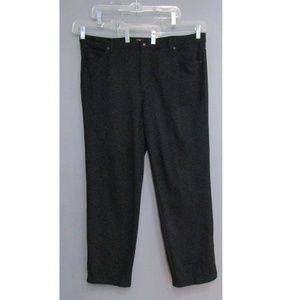 Gloria Vanderbilt Black Ponte Knit Pants Size 16W